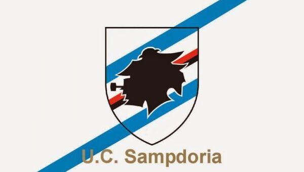 Флаг итальянской футбольной команды Сампдория