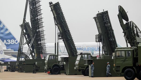 Выставка военной техники во время авиасалона в Чжухае