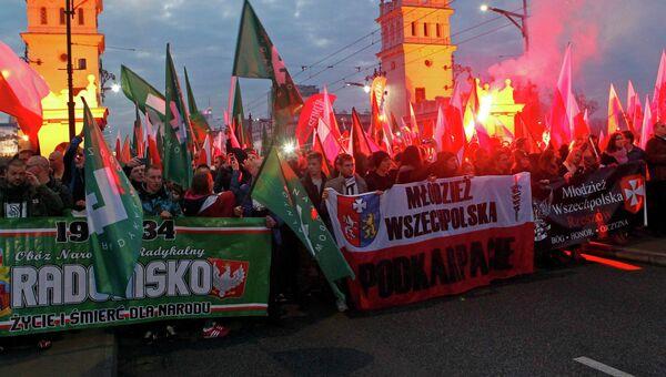 Столкновения на шествии в День независимости в Варшаве, 11 ноября 2014