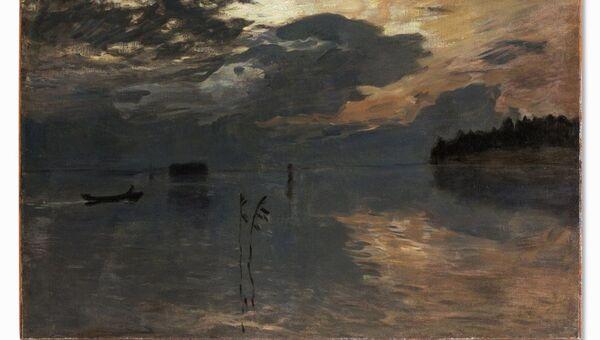 Исаак Ильич Левитан. Сумерки над водой. 1895-1899
