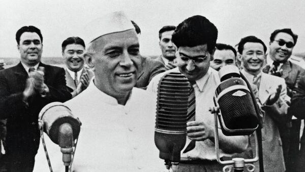 Премьер-министр Индии Джавахарлал Неру