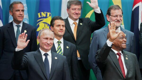 В.Путин принимает участие в саммите Группы двадцати в Брисбене. Архивное фото