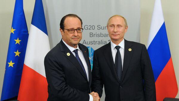 Путин и Олланд. Архивное фото