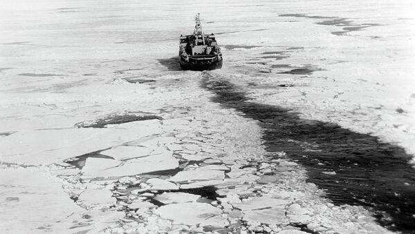 Атомный ледокол Ленин. Архивное фото