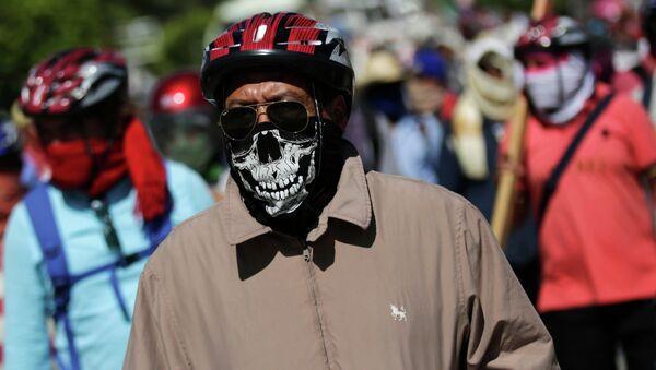Акции протеста в Мексике. Архивное фото
