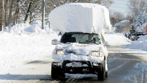 Снегопад в штате Нью-Йорк. Архивное фото