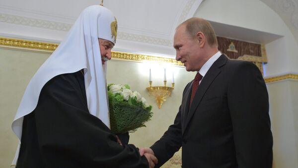 В.Путин поздравил патриарха Кирилла