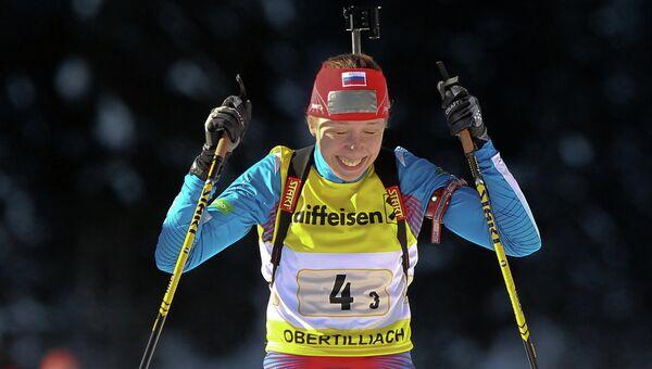 Российская биатлонистка Ульяна Кайшева. Архивное фото.