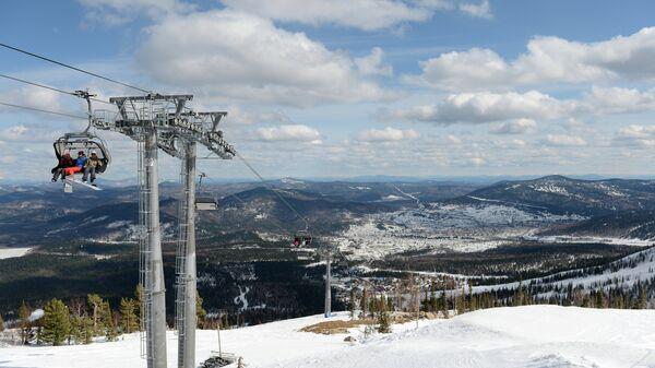 Вид на трассы горнолыжного курорта Шерегеш
