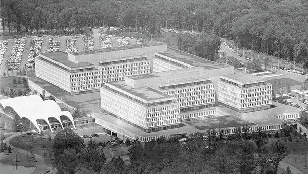 Вид на штаб-квартиру ЦРУ, США.