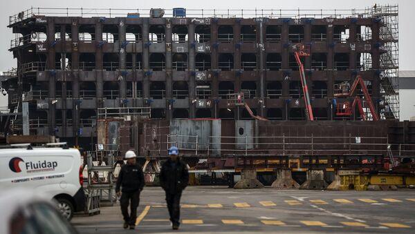 Cудостроительный завод фирмы STX Europe в городе Сен-Назер. Архивное фото