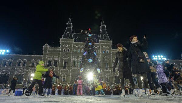 Открытие ГУМ Катка на Красной площади