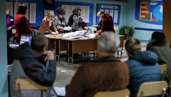 Подсчет голосов на парламентских выборах в Молдавии