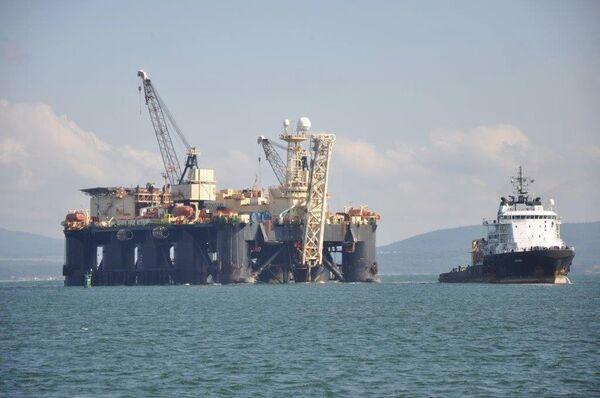 Castoro Sei готовится к трубоукладочным работам на морском участке газопровода Южный поток в порту Бургас