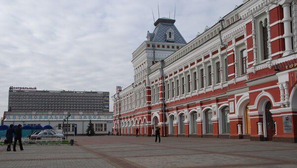 Нижегородская ярмарка и гостиница Центральная. Архивное фото