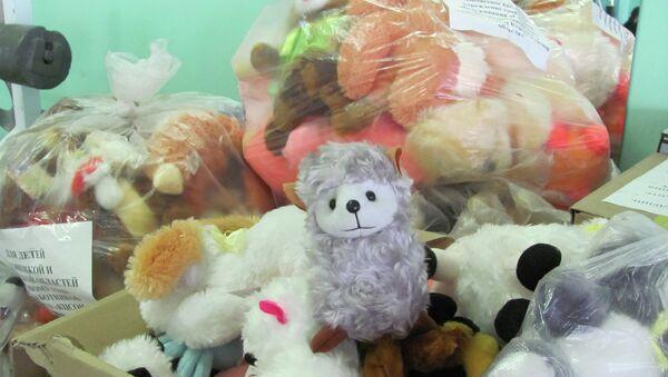 Подарки для детей Донбасса, собранные жителями Курска