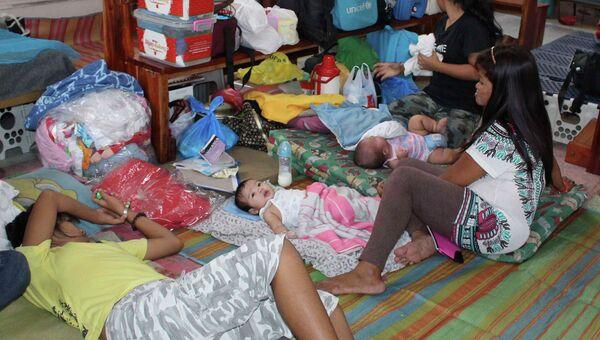 Эвакуация людей в Филиппинах
