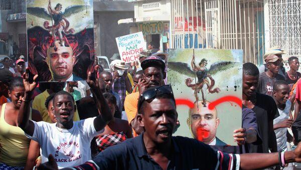 Антиправительственные демонстрации на Гаити 05.12.2014
