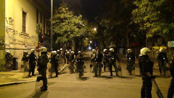 Беспорядки в центре Афин после шествия анархистов
