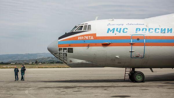 Самолет МЧС России доставил груз гуманитарной помощи в Сирию