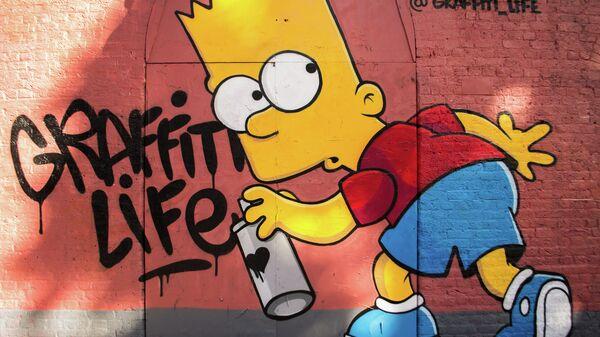 Граффити с Бартом Симпсоном из мультсериала The Simpsons. Архивное фото
