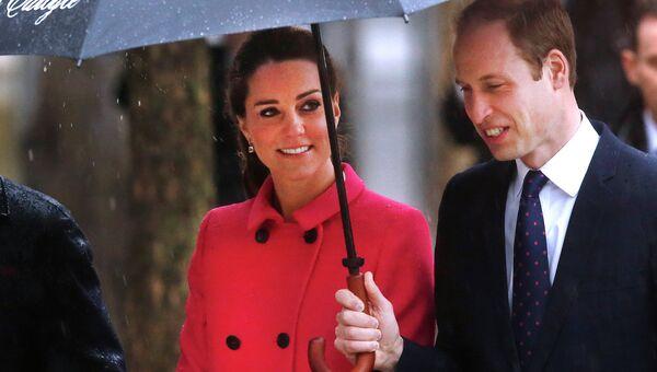 Герцогиня Кембриджская Кейт и принц Уильям во время визита в Нью-Йорк