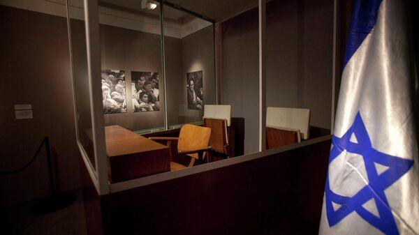 Пуленепробиваемая комната - экспозиция выставки о работе внешней разведки Израиля Моссад