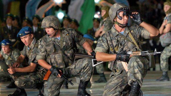 Военнослужащие войск специального назначения Узбекистана. Архивное фото