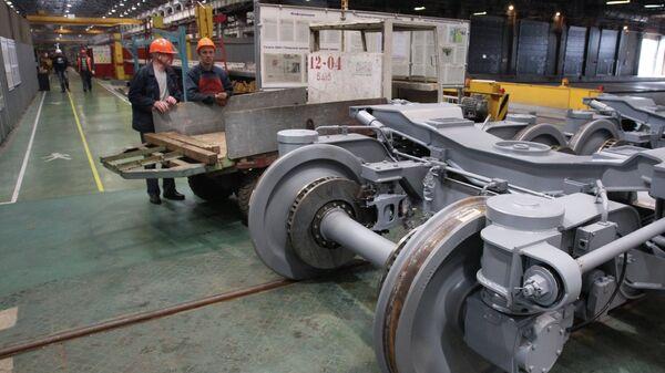 Работа вагоностроительного завода Трансмашхолдинг. Архивное фото