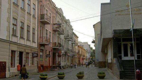 Улица Валовая в Старом городе, Тернополь, Украина