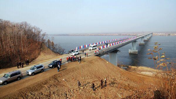 Открытие моста через Амурскую протоку на Большой Уссурийский остров