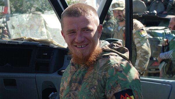 Ополченец Донецкой народной республики с позывным Моторола