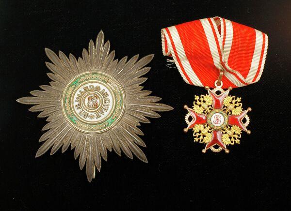 Звезда и знак Ордена Святого Станислава
