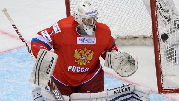 Вратарь сборной России Станислав Галимов. Архивное фото