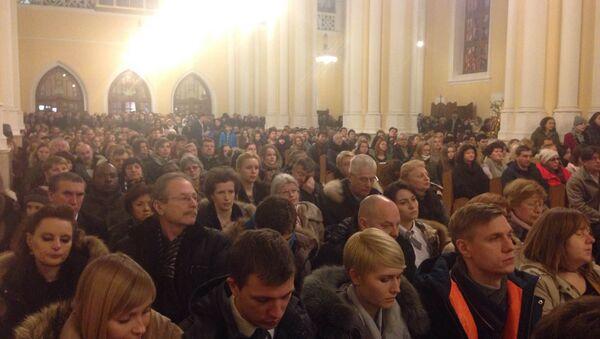 Рождественская месса в кафедральном соборе Непорочного зачатия в Москве