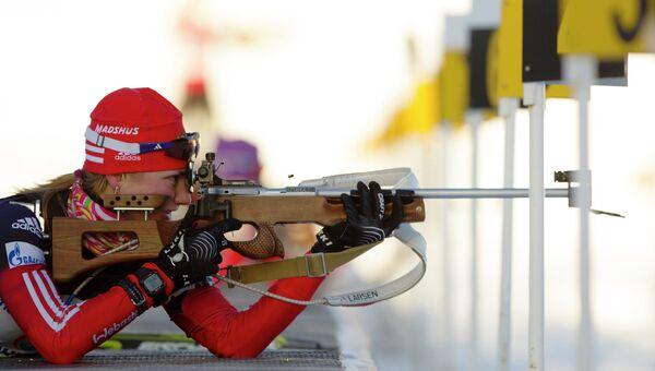 Российская биатлонистка Анна Щербинина. Архивное фото