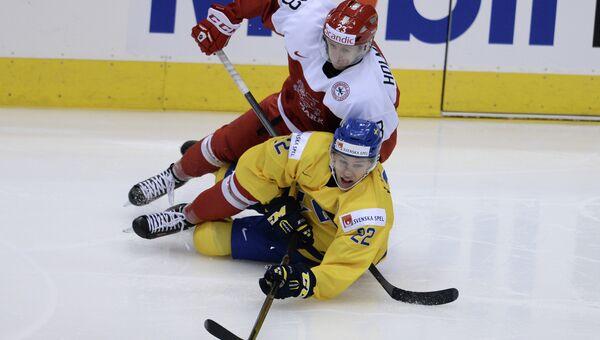 Хоккей. Молодежный ЧМ. Матч Дания - Швеция