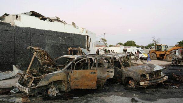 Взрыв возле аэропорта столицы Сомали, города Могадишо. 4 января 2015 год