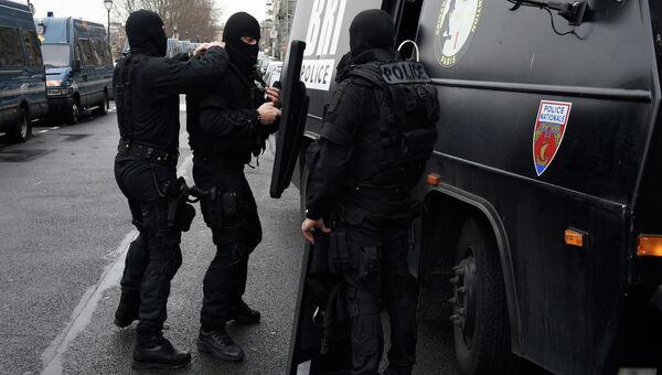 Французский полицейский спецназ. Архивное фото