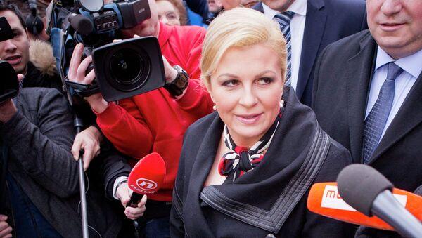 Президент Хорватии Колинда Грабар-Китарович. Архивное фото
