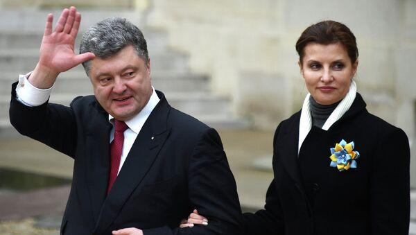 Президент Украины Петр Порошенко с супругой Мариной. Архивное фото