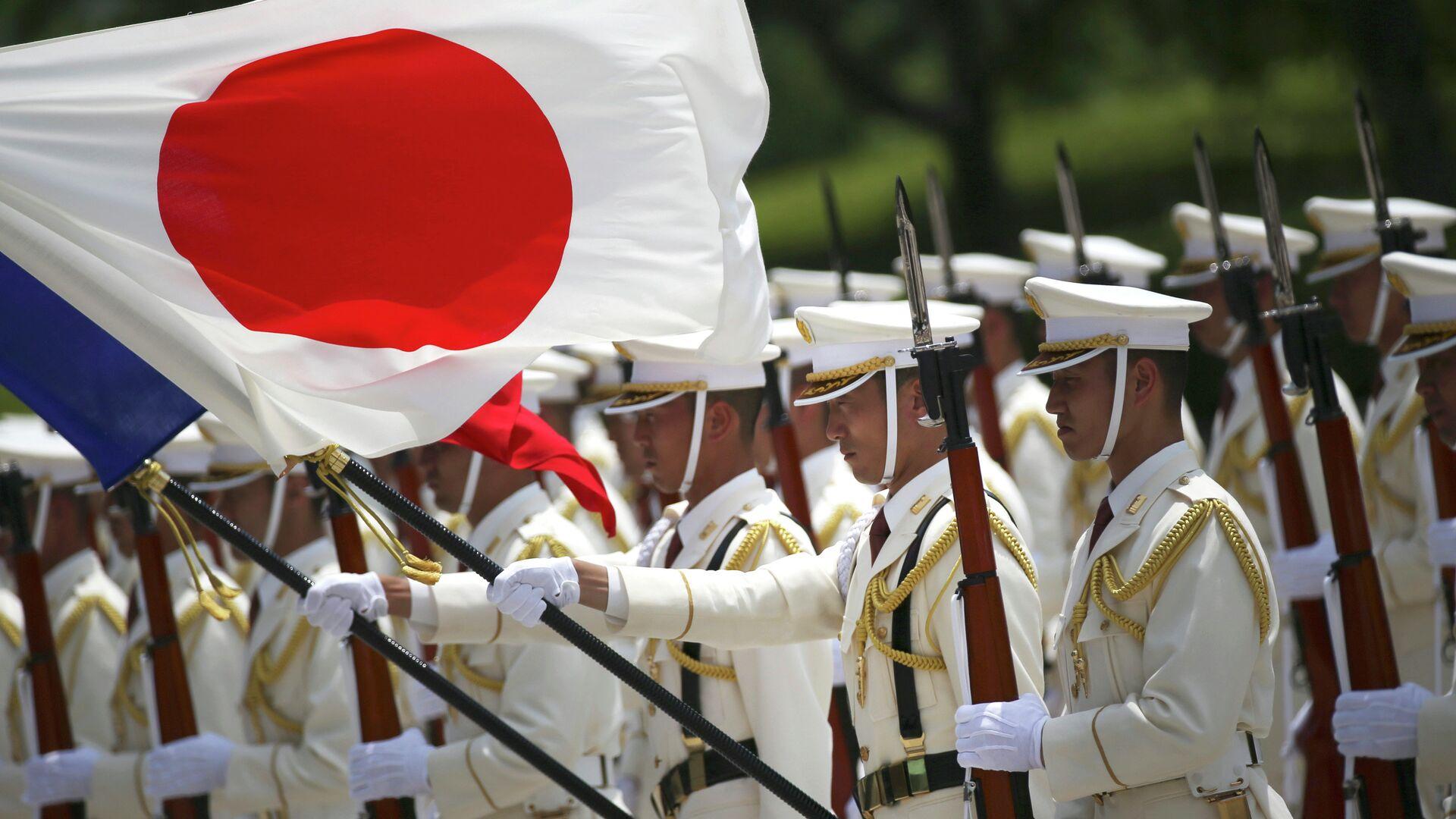 Почетный караул сил самообороны Японии - РИА Новости, 1920, 08.01.2021