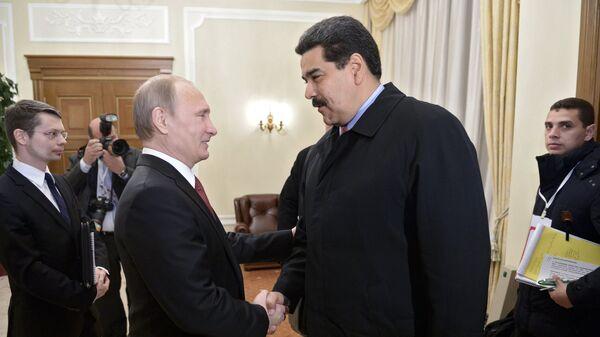 Президент РФ В.Путин встретился с президентом Венесуэлы Н.Мадуро. Архивное фото
