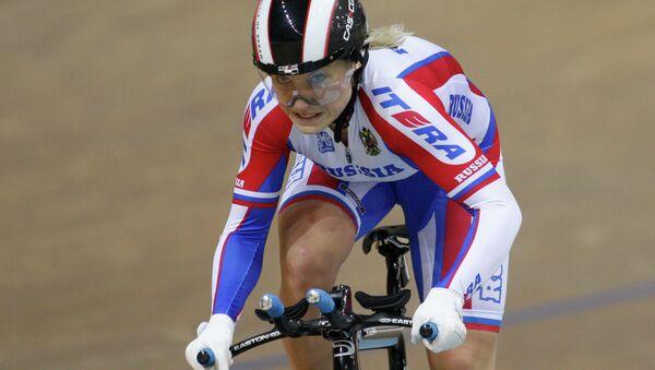 Российская велогонщица Дарья Шмелева. Архивное фото