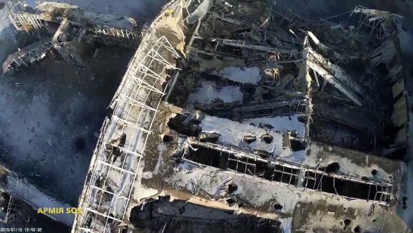 Последствия обстрелов аэропорта Донецка