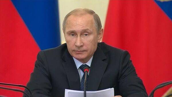 Путин заявил, что Россия не намерена втягиваться в гонку вооружений