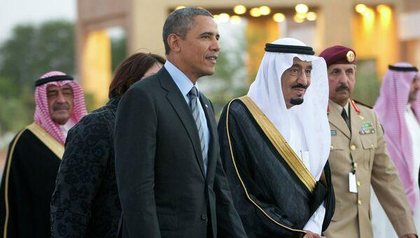 Президент США Барак Обама и принц Салман ибн Абдул-Азиз Аль Сауд