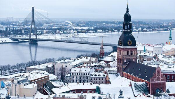 Вид на Старый город в Риге. Латвия. Архивное фото