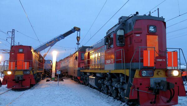 Авария на на Западно-Сибирской железной дороге