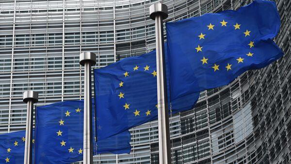 Флаги Евросоюза, архивное фото